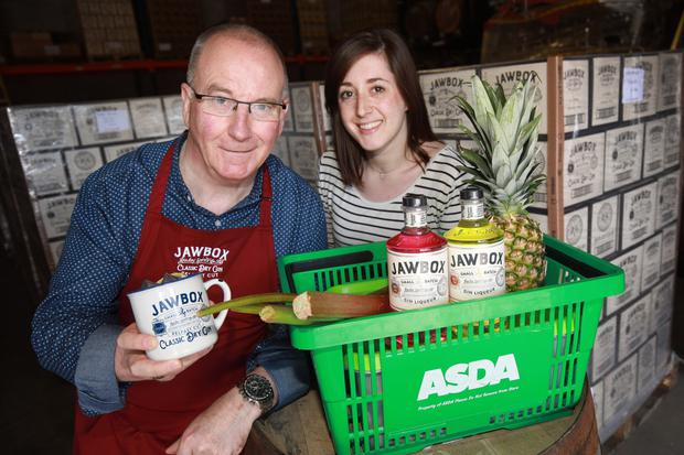 Gerry White of Jawbox Gin, with Asda NI buying manager Emma Swan