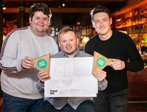 From left: Gavin Teggart, marketing manager, Conor Marin, assistant manager and Michael Johnston, general manager