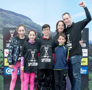 With his wife Karen and children (from left) Carla, Ella, Ben and Jack