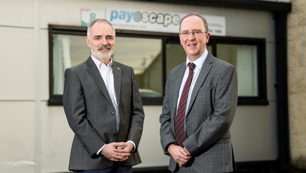 John Borland of Payescape (left) with Des Gartland, Invest NI