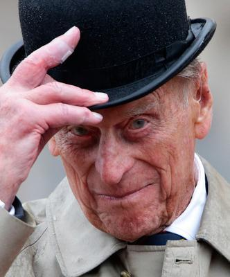 The Duke of Edinburgh attending the Captain General's Parade as his final individual public engagement at Buckingham Palace in London