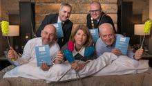 Front from left: Mal Metrustry of Ecolab; NIHF CEO Janice Gault; Alan Blaney, Bunzl Rafferty and (back) Kevin O'Neill, King Koil; and Stephen Meldrum, NIHF