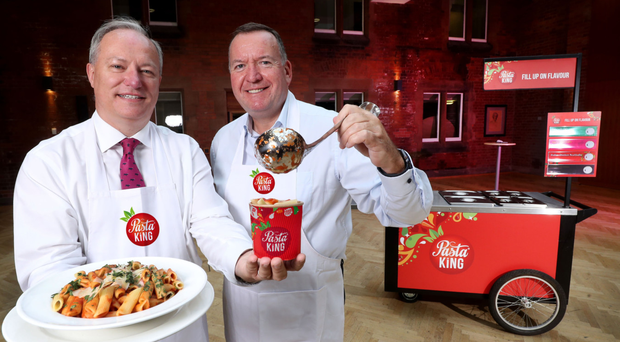 Entrepreneurs Paul Allen (left) and Michael Blaney have bought Pasta King