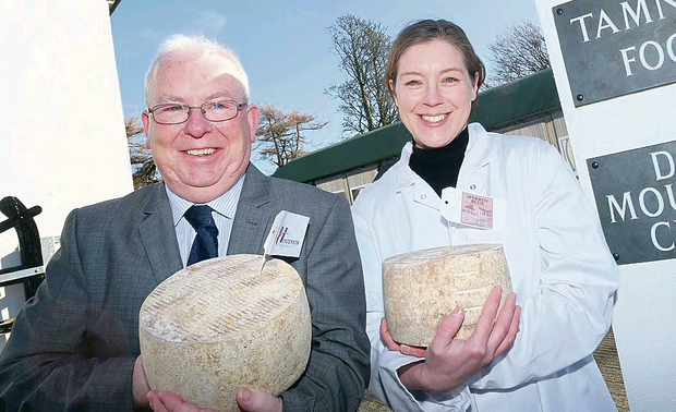 Tom McKenzie of Henderson Foodservice with Julie Hickey from Dart Mountain Cheese