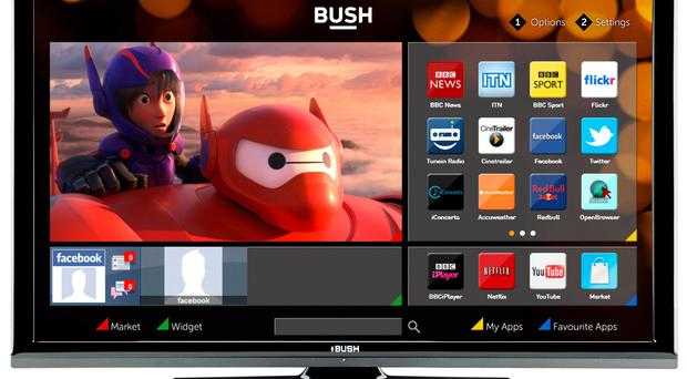 Bush 24in HD Ready Smart TV with DVD Player - Black