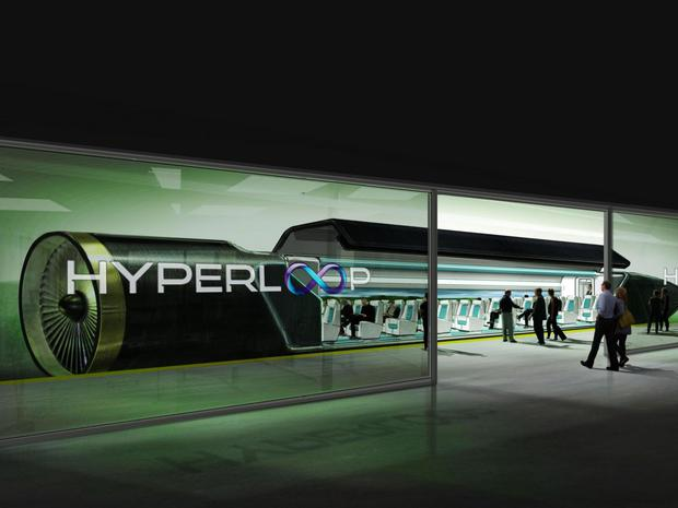 A concept design of a Hyperloop station created by Hyperloop Technologies, one of the pioneering companies working on developing the system Hyperloop Technologies