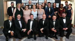 Staff from Version 1 pictured at the Belfast Telegraph Business Awards in association with Ulster Bank at the Crowne Plaza Hotel, Belfast