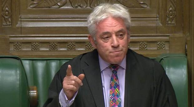 Speaker John Bercow blocked the Government from holding a meaningful vote on its Brexit deal (House of Commons/PA)