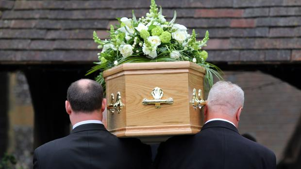 Deaths increased by around half in the second quarter of last year (PA/PA)