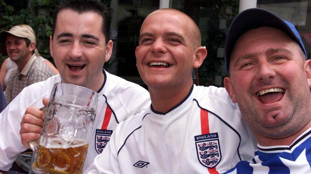 England fans boosted Greene King beer sales (Andrew ParsonsPA)