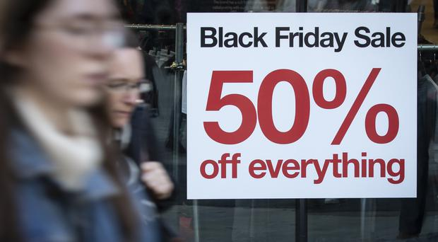 Shoppers appeared to temporarily brush Brexit concerns to one side in November as the focus shifted to finding Christmas bargains (PA)