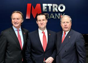 Chief executive Craig Donaldson, middle, has come under fire over the accounting error (John Stillwell/PA)