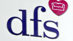 Stock photo of a DFS store in Tottenham Court Road, London.