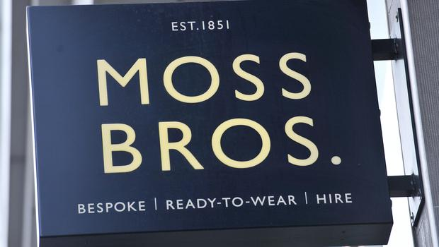 Moss Bros said sales picked up (Nick Ansell/PA)
