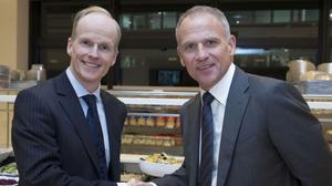 Charles Wilson (left) has stepped down as the boss of Tesco's Booker wholesale business, months after Tesco chief Dave Lewis (right) announced his own exit (Stephen Lock/PA)