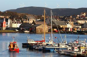 Scalloway in the Shetland Islands (Andrew Milligan/PA)