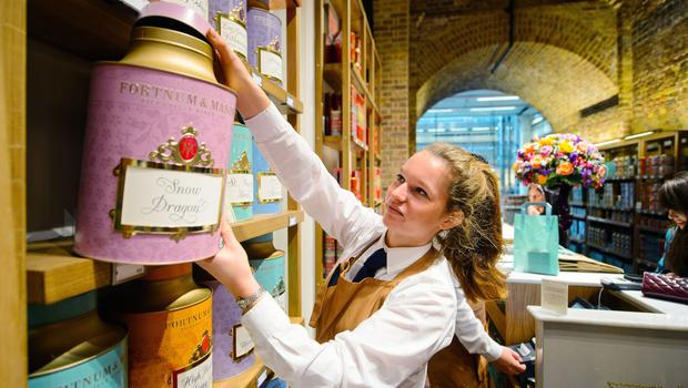 Fortnum and Mason's like-for-like sales grew by 10% (Dominic Lipinski/PA)