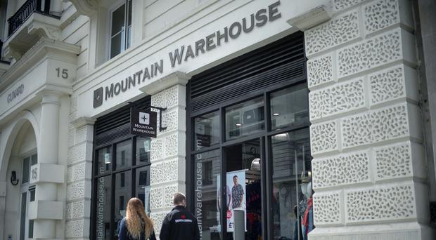 Mountain Warehouse has reported a 16% rise in sales (Anthony Devlin/PA)