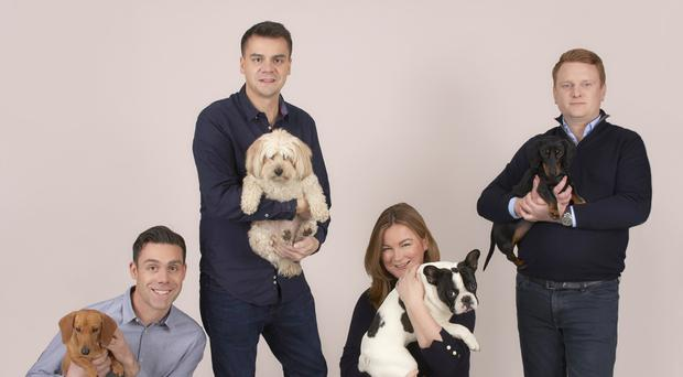 Itchpet.com Founders: L to R Jonny Gould, Adam Gould, Charlotte Harper and James Cox (Itch)