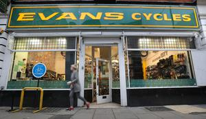 Evans Cycles was allowed to remain open (Philip Toscano/PA)