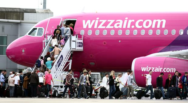 Wizz Air said trading has been in line with expectations (Steve Parsons/PA)