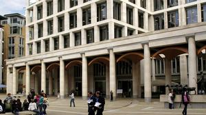 The incident happened at the London Stock Exchange in Paternoster Square, central London