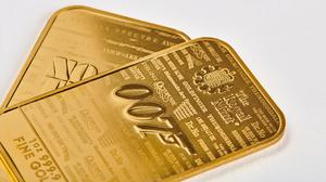 James Bond gold bars are available to buy from the Royal Mint website (Royal Mint/PA)