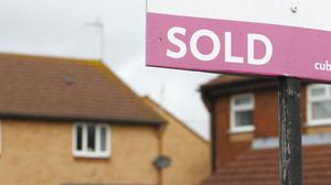 Figures show the average UK house price jumped by around £8,000 annually in June (PA)