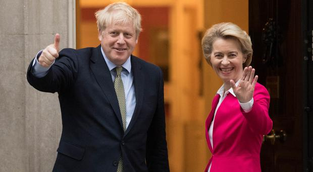 Boris Johnson and European Commission chief Ursula von der Leyen (Stefan Rousseau/PA)