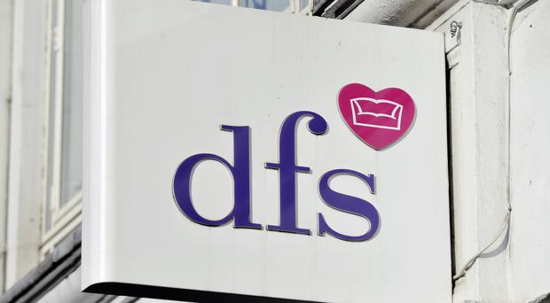 "Stock photo of a DFS store in Tottenham Court Road, London, as the sofa chain has seen annual profits surge by nearly a third, but cautioned over ""subdued"" recent trading amid Brexit uncertainty and a slowdown in the housing market."
