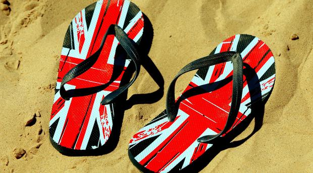 £8m-worth of flip flops were exported around the world last year, according to HMRC figures