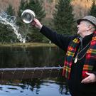 The River Tay is blessed with whisky ahead on the opening day of the salmon fishing season