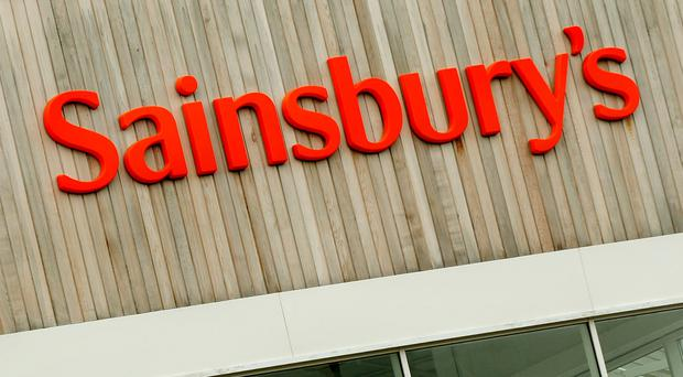Sainsbury's was sitting among the biggest risers in UK stocks
