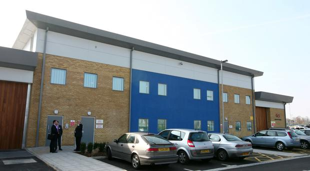 The Brook House Immigration Removal Centre, next to Gatwick Airport in West Sussex