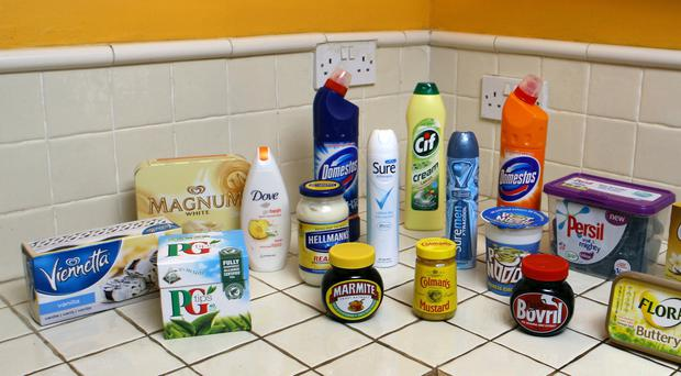 Picture of Unilever products