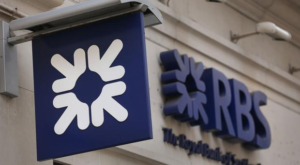 A picture of a RBS sign (PA)