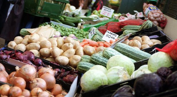 A picture of groceries as official inflation figures are released on Tuesday (PA)