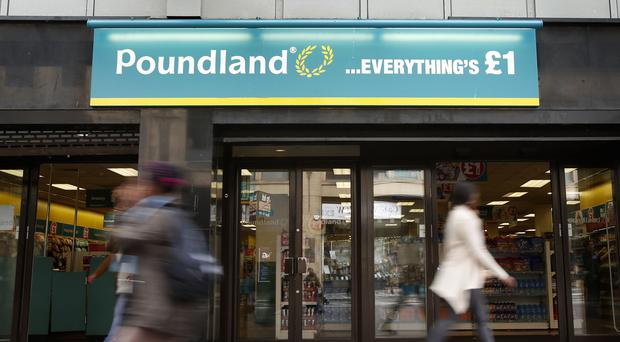 The owner of Poundland saw shares plunge more than 20% on Tuesday (Danny Lawson/PA)