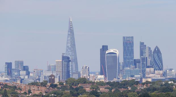 A general view of the London skyline, as Saudi Arabia changes legal status of Saudi Aramco that could see it launch an IPO in the capita