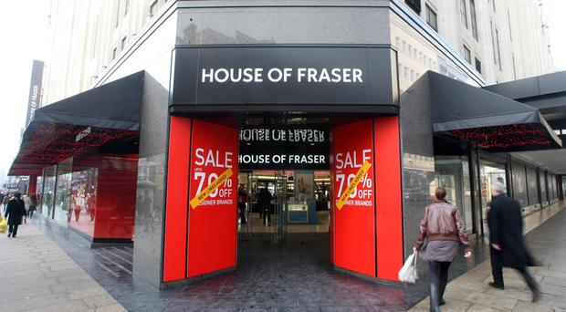 House of Fraser is aiming to pay less rent (Lewis Whyld/PA)