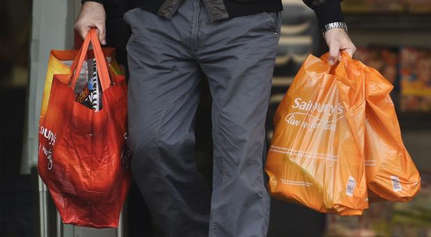 Supermarket shares were at the top of the FTSE 100 (Lauren Hurley/PA)