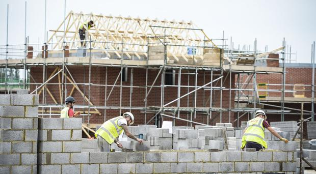 A rise in housebuilding was one of the main