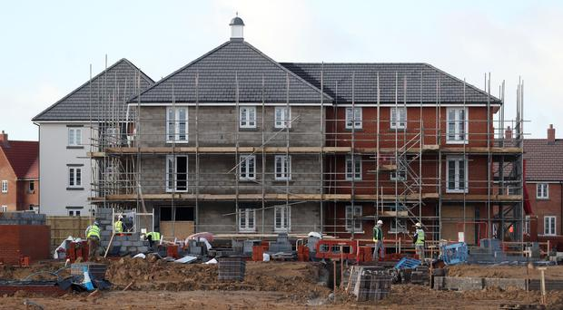 A building site, as new figures are published on activity in the construction sector (PA)
