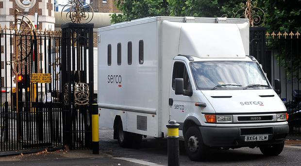 Serco, which handles a raft of contracts including operating prison vans, has secured a hefty discount on its deal to buy a raft of healthcare contracts from failed rival Carillion (Ian Nicholson/PA)