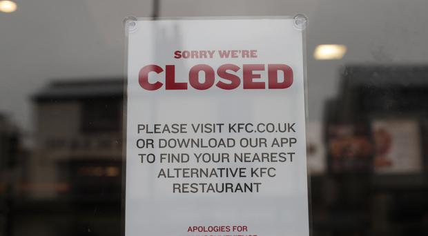KFC chicken shortage