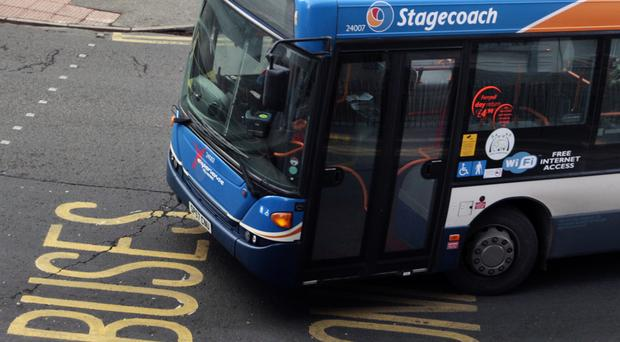 A Stagecoach bus departs Edinburgh bus station (David Cheskin/PA)