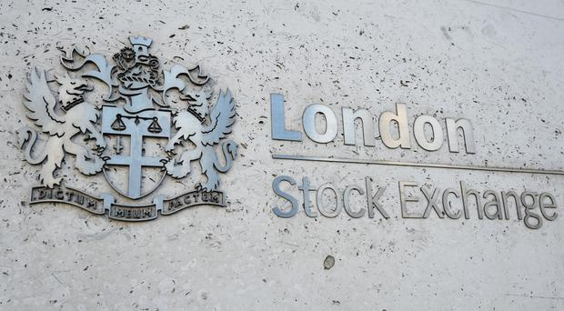 A view of the London Stock Exchange sign in the City of London (PA)