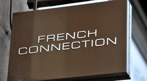 A shop sign for French Connection in central London (PA)