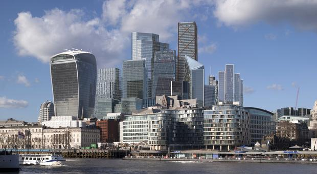 DS Smith was one of the top risers on the FTSE 100 on Monday (City of London/PA)