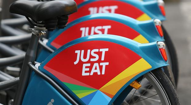 Just Eat shares went into freefall on Wednesday (PA)